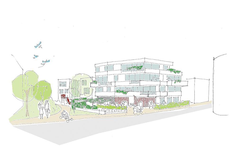 """Investorenwettbewerb """"Neubau von Wohngebäuden auf den Entwicklungsgrundstücken Halde V in Weinstadt"""" in Zusammenarbeit mit Siedlungswerk GmbH Wohnungs- und Städtebau, Stuttgart (DE)"""