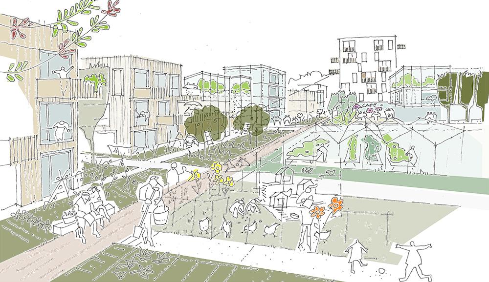 Planungswettbewerb Quartier Böckingerstraße, Stuttgart – Zuffenhausen (Rot) mit AuerWeber Stuttgart (DE)
